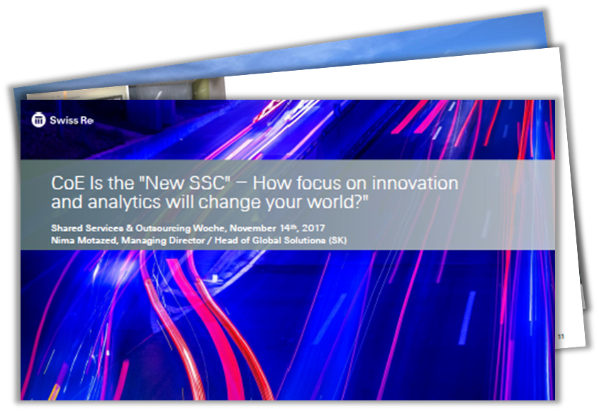 "CoE Is the ""New SSC"" – How focus on innovation and analytics will change your world?"
