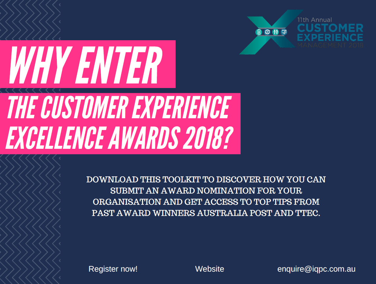 Why enter the Customer Experience Excellence Awards 2018?