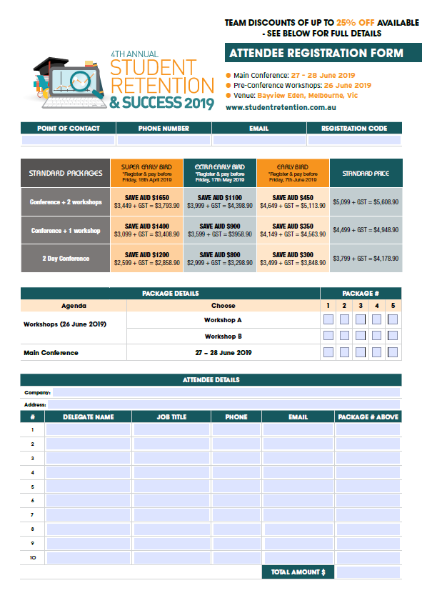 Fast Track Your Attendance to the Student Retention and Success Summit 2019