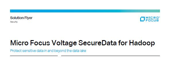 Micro Focus Voltage SecureData For Hadoop