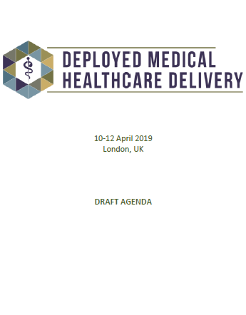 2019 Preliminary Agenda - Deployed Medical and Healthcare Delivery