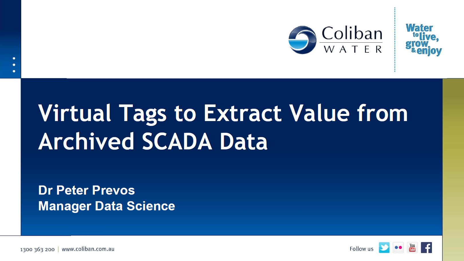 Virtual Tags to Extract Value from Archived SCADA Data