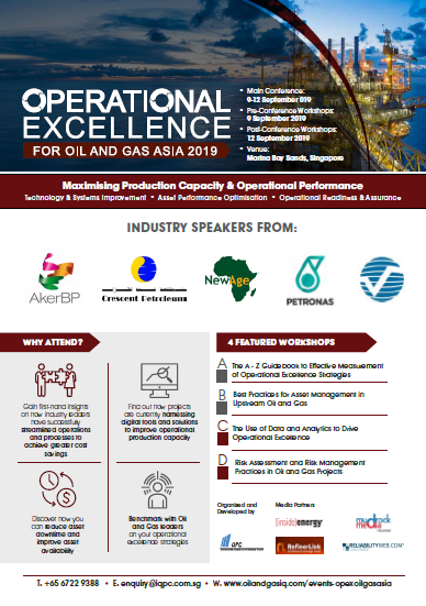 View the full event outline - Operational Excellence for Oil & Gas Asia