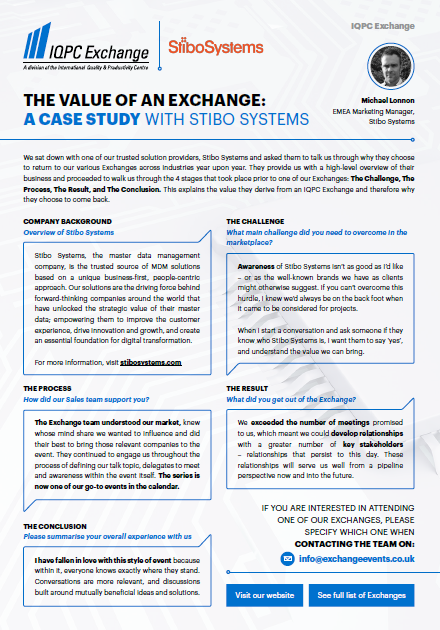 The Value Of An Exchange: A Case Study With Stibo Systems