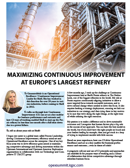 Maximizing Continuous Improvement at Europe's Largest Refinery