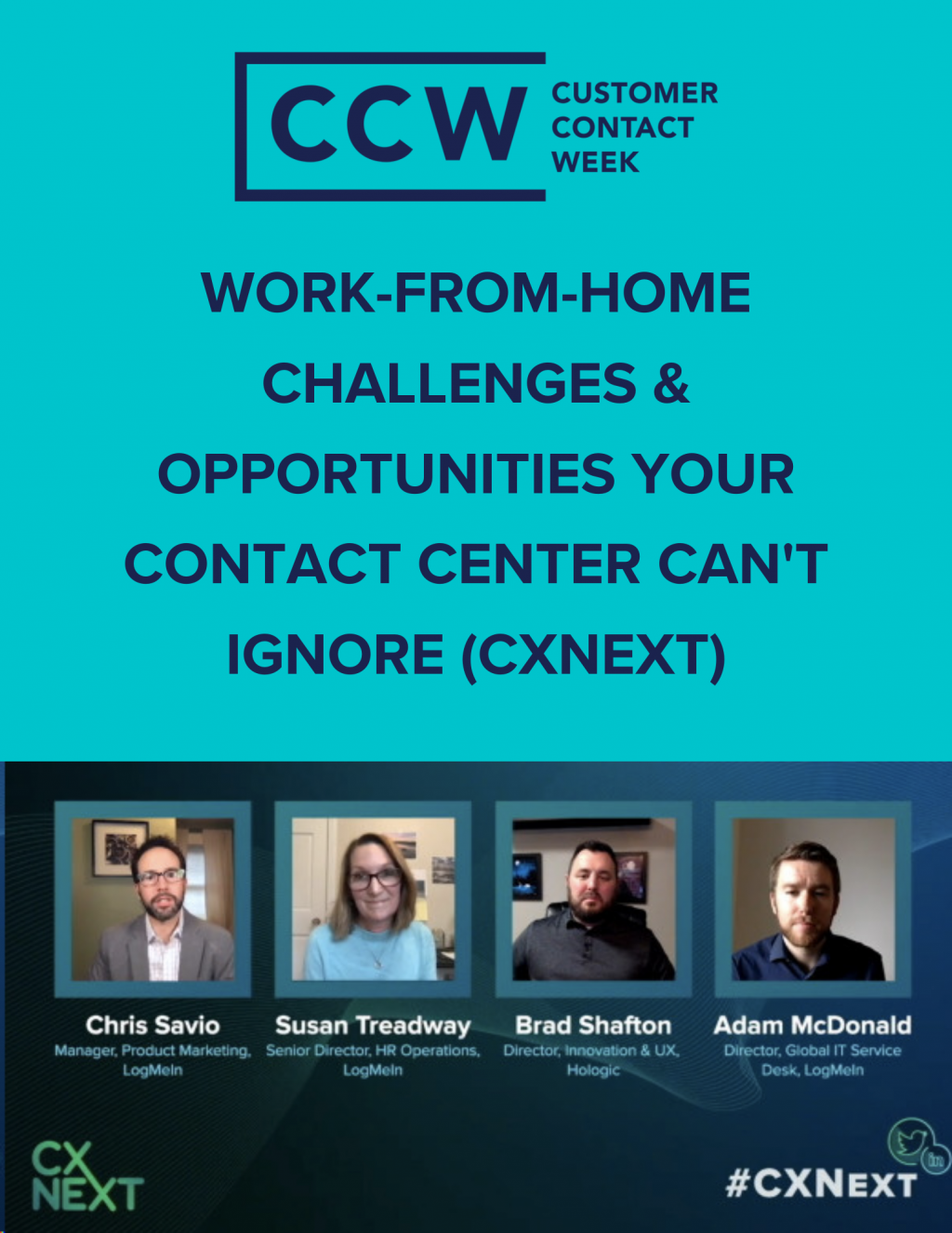 Work-From-Home Challenges & Opportunities Your Contact Center Can't Ignore (CXNext)