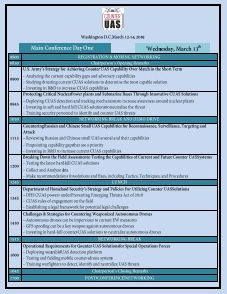 Counter UAS 2019 Preliminary Agenda