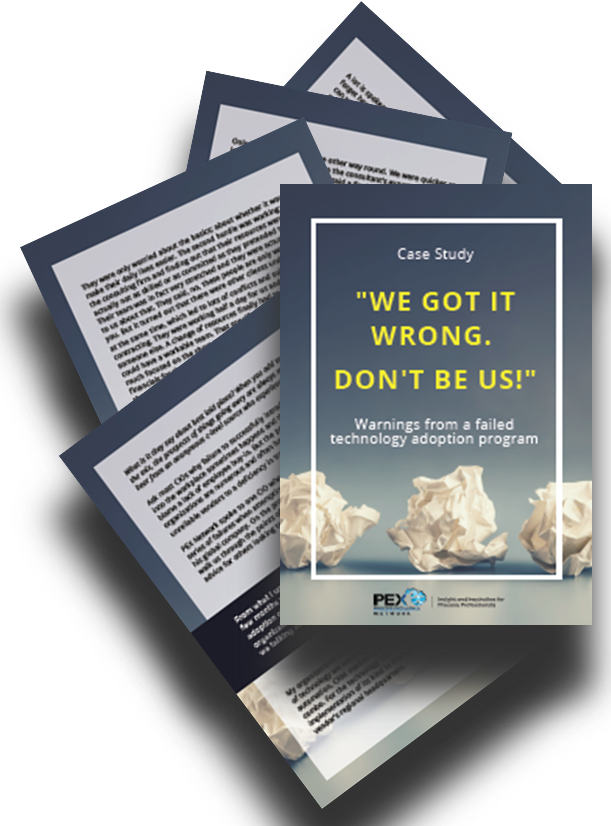 "Case Study ""We got it wrong"" on failed technology adoption program"