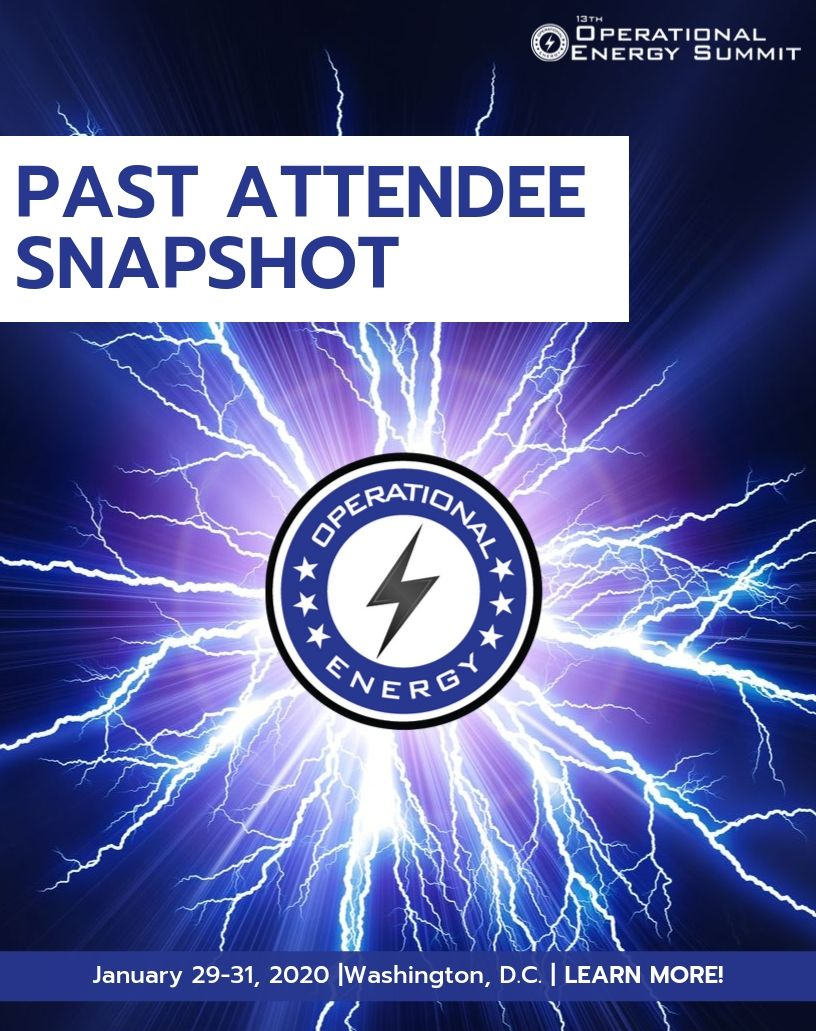 Operational Energy Past Attendee Snapshot