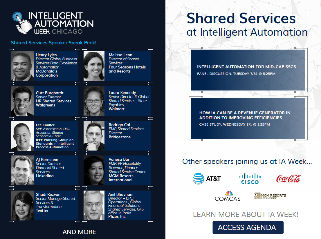 Shared Services at Intelligent Automation Week