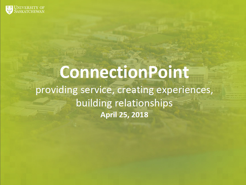 ConnectionPoint: providing service, creating experiences, building relationships