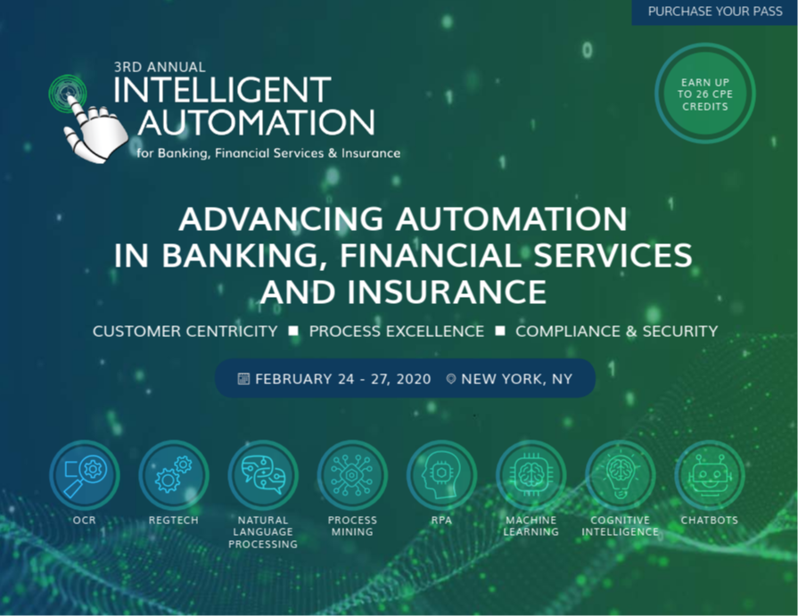 2020 Program: Intelligent Automation for Banking, Financial Services & Insurance