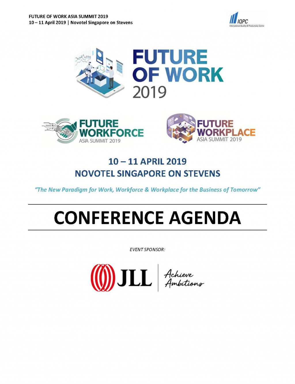 Download the Future of Work 2019 Brochure - Future Workforce and Future Workplace