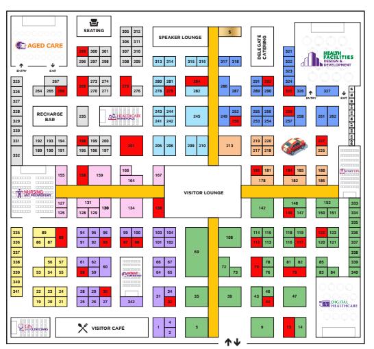 Australian Healthcare Week 2022 Floorplan