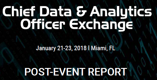 Chief Data and Analytics Post Event Report - January 2018