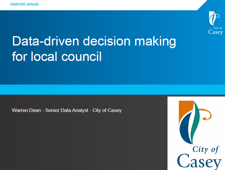Data-driven decision making for local council