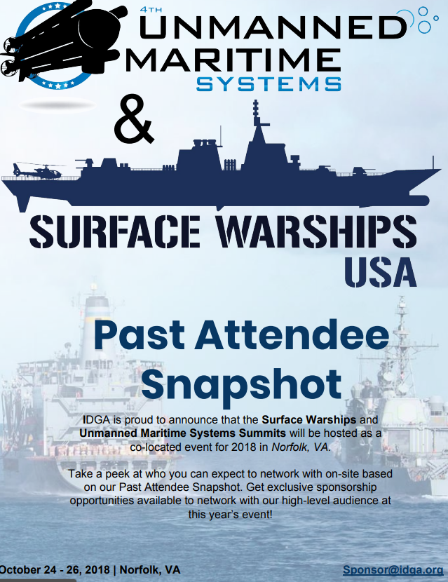 Unmanned Maritime Systems - Past Attendee Snapshot