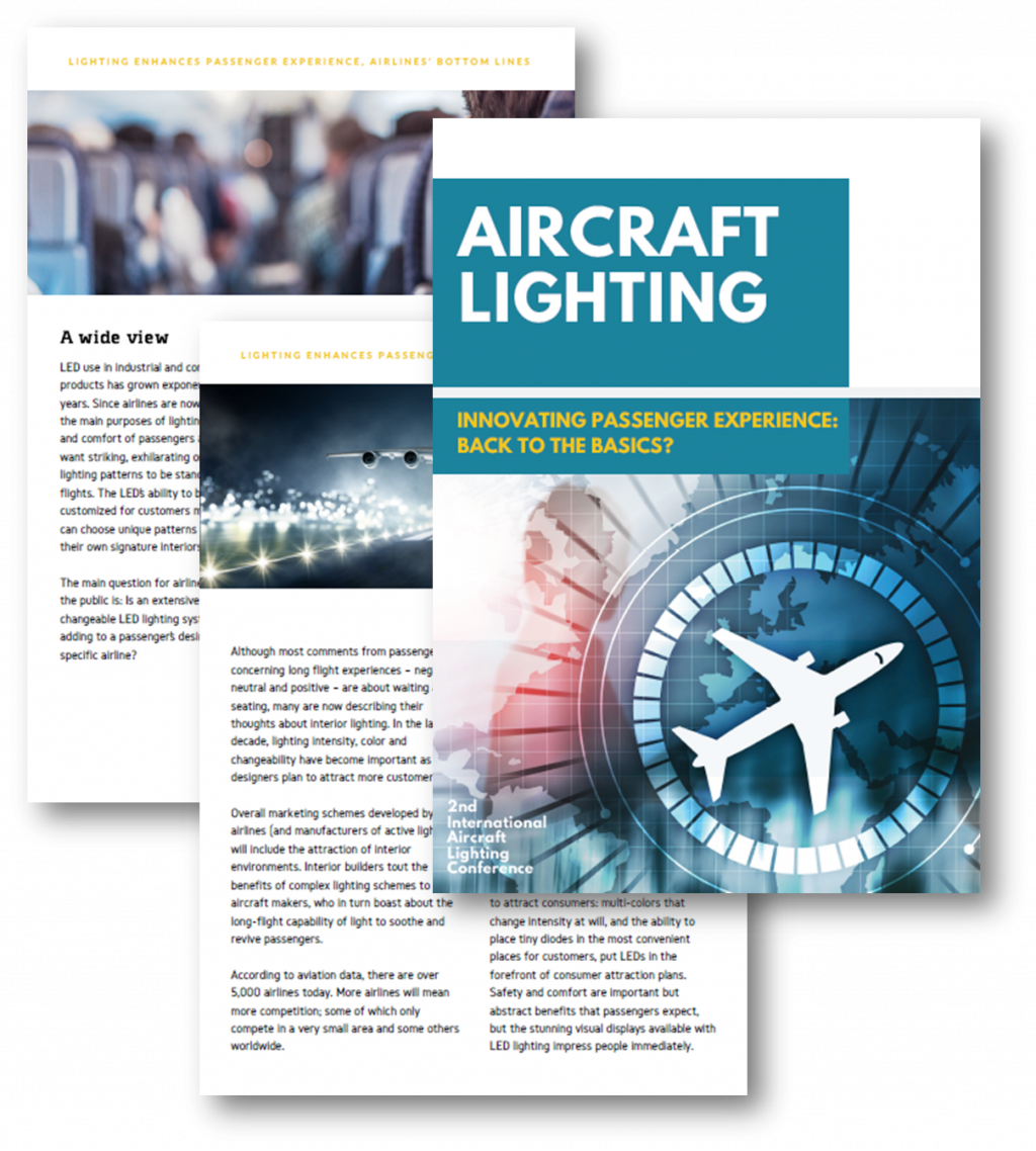 Aircraft Lighting - Innovative passenger experience - Back to the basics?