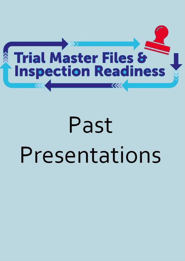 past presentation trial master file through the r2 of ich gcp karyopharm therapeutics