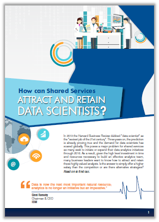 Report on how shared services attract and retain data scientists