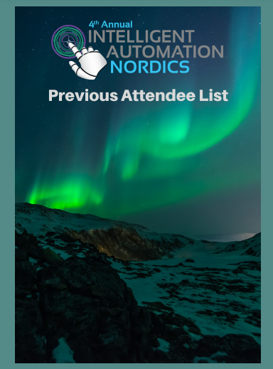 Intelligent Automation Nordics 2017-19 Attendee List