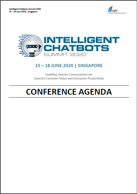Download Intelligent Chatbots Asia 2020 Preliminary Agenda
