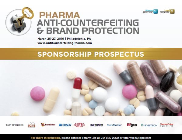 Pharma Anti-Counterfeiting & Brand Protection Sponsorship Prospectus