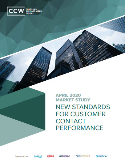 Market Study: New Standards For Customer Contact Performance