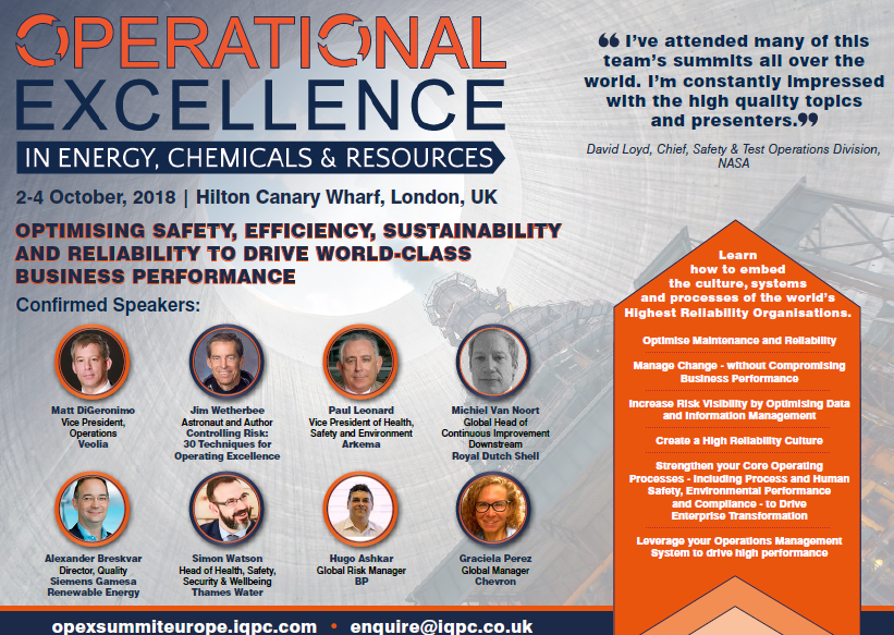 Download the Operational Excellence in Energy, Chemicals & Resources Europe Agenda