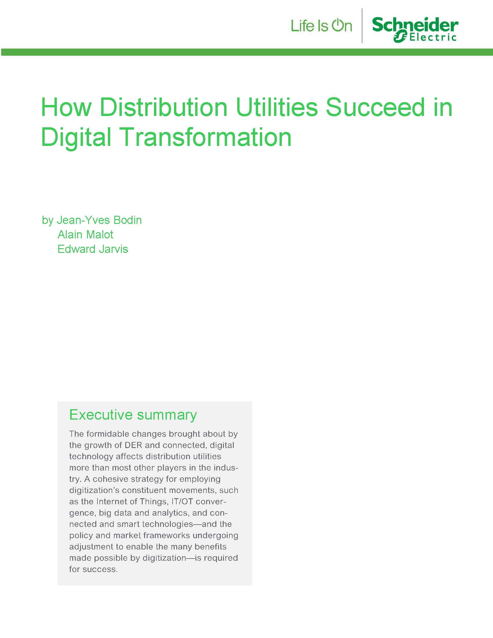 How Distribution Utilities Succeed in Digital Transformation