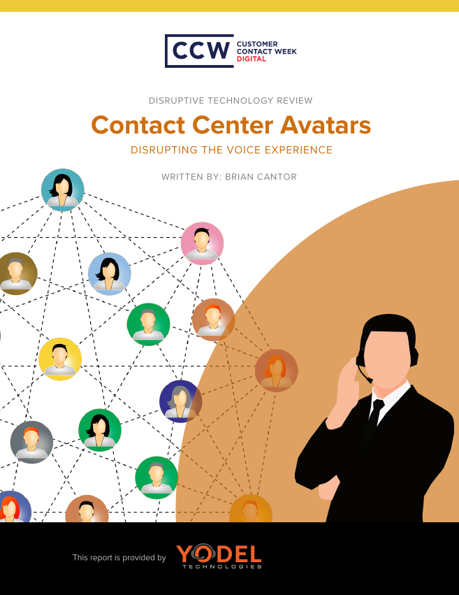 Disruptive Technology Review: Contact Center Avatars