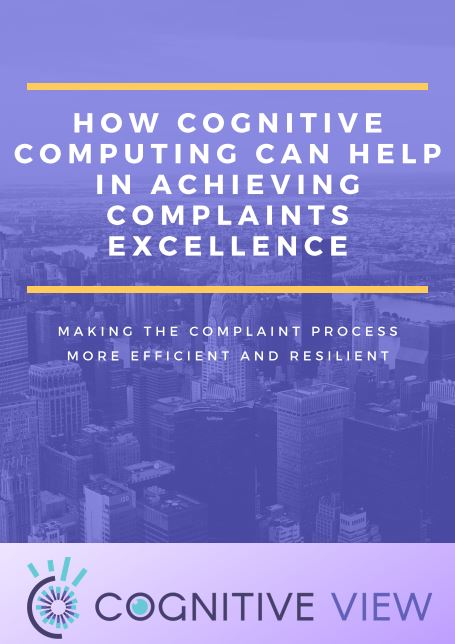 Complaint Management With Cognitive View
