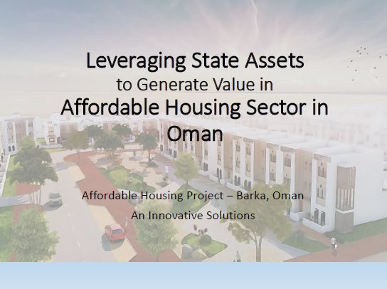 Case study: Affordable housing project in Barka, Oman