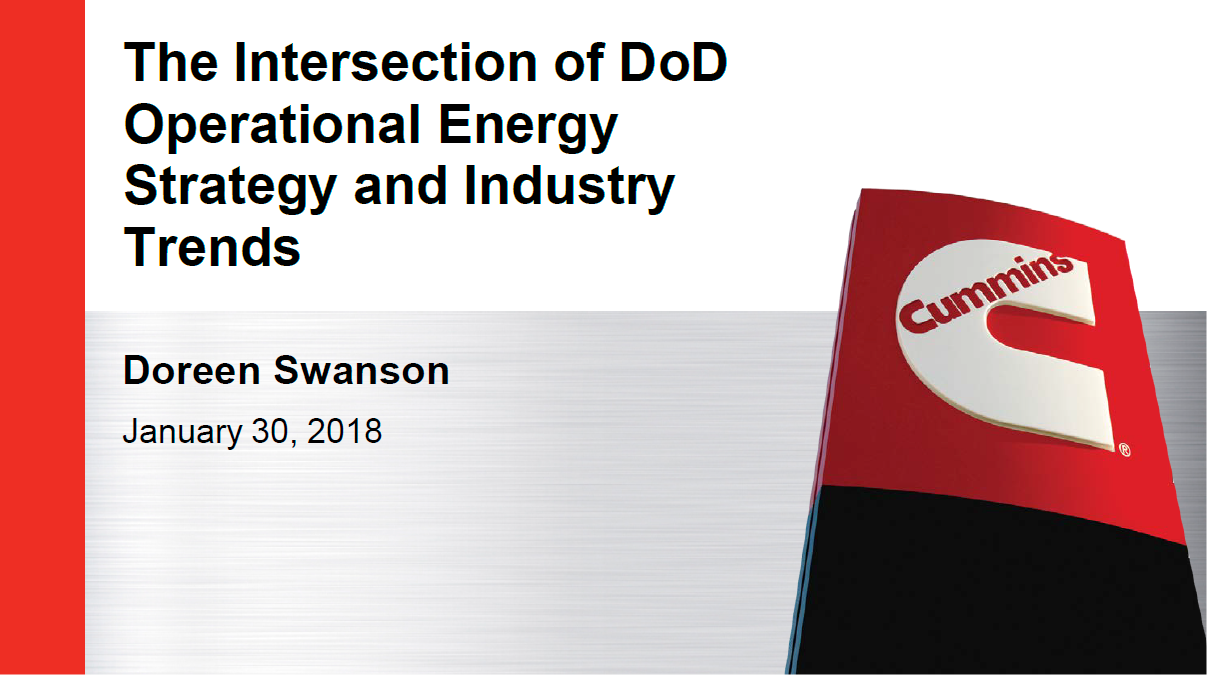The Intersection of DoD Operational Energy Strategy and Industry Trends