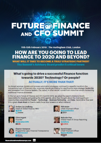 How are you going to lead finance to 2020 and beyond?