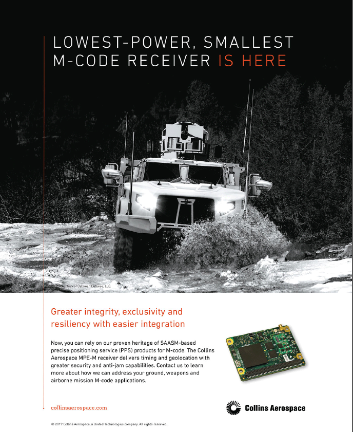 Collins Aerospace: Lowest-Power, Smallest M-Code Receiver is Here