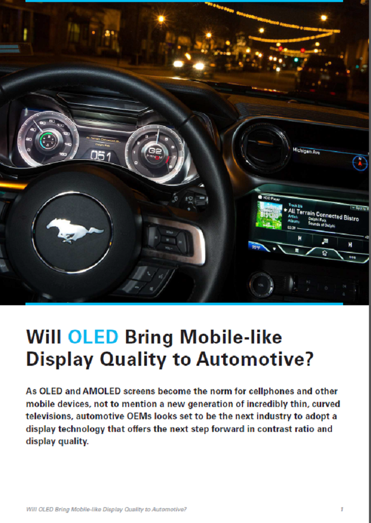 Will OLED Bring Mobile-like Display Quality To Automotive?