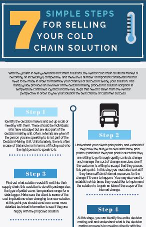 7 Simple Steps for Selling Your Cold Chain Solution