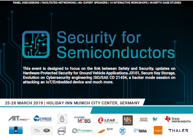 Agenda for the 2019 Security for Semiconductors
