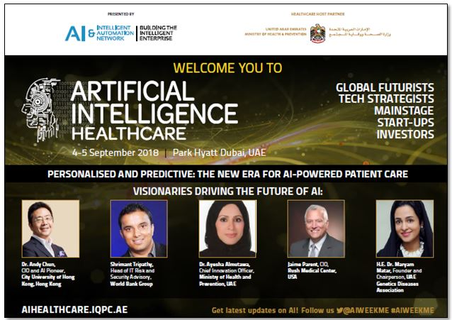 Artificial Intelligence Week – Healthcare: Agenda