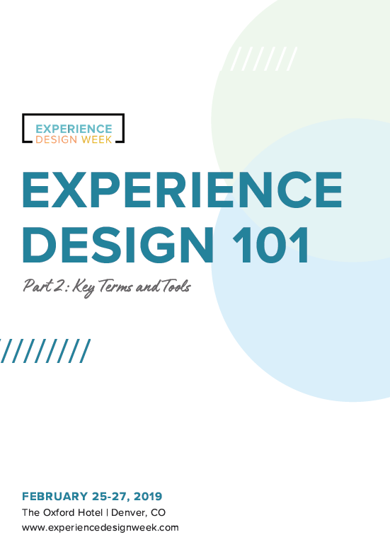 Experience Design 101 (Part 2)