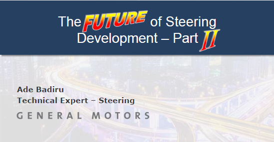 General Motors presents the Future of Steering Systems