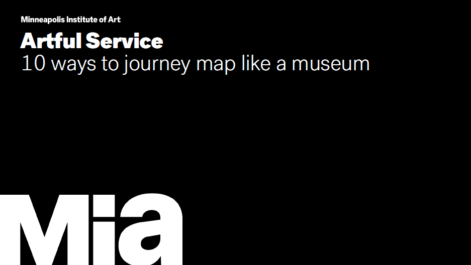 Presentations: 10 Ways to Journey Map like a Museum
