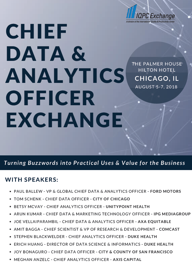 2018 Chief Data & Analytics Officer Agenda