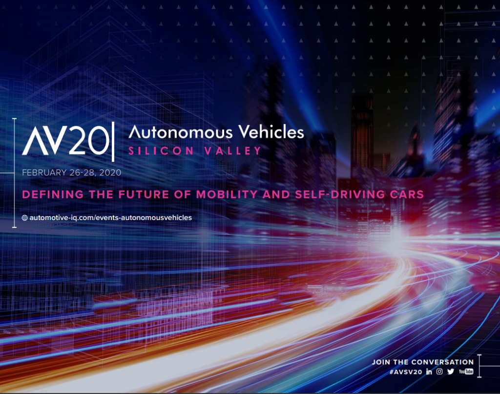 Autonomous Vehicles Silicon Valley 2020 Event Guide