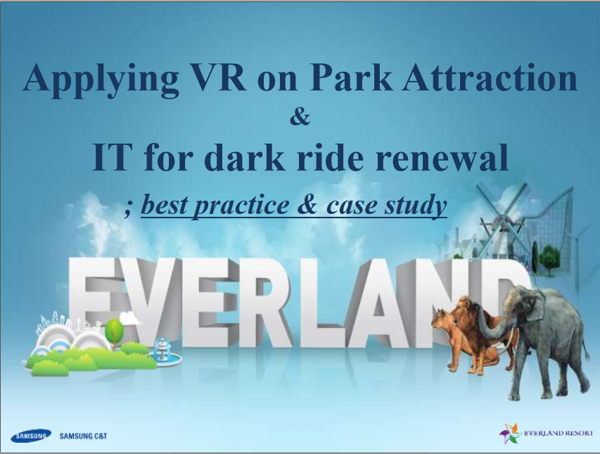Read the Past Presentation - Rejuvenating Samsung Everland's Existing Rides with Virtual Reality