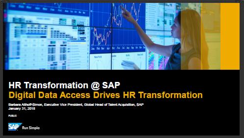 Präsentation zur HR Transformation bei SAP