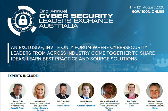 Cyber Security Leaders Exchange 2020 Agenda