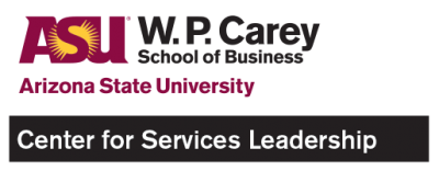 Arizona State University: Center for Services Leadership Logo