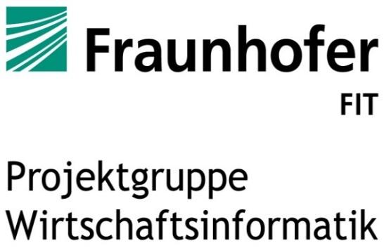 Projektgruppe Wirtschaftsinformatik des Fraunhofer FIT Logo